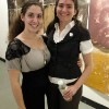 Kim Waite and Amanda Lee at the opening of Solution of Silver of White Light